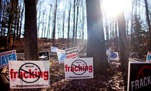 Anti-fracking signs