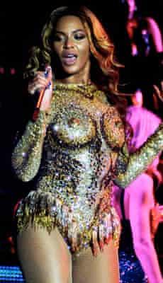 Beyonce in her crystal bodysuit