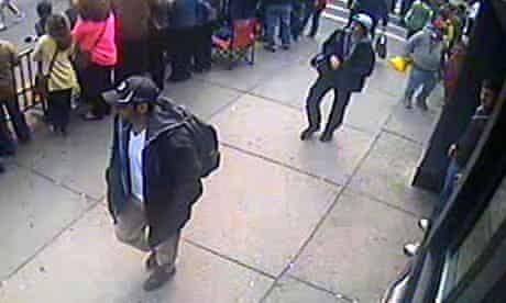 FBI handout images of Boston bombing suspects