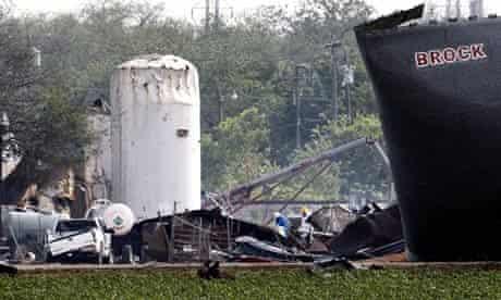 Explosion at a fertilizer plant in West Texas, America - 18 Apr 2013