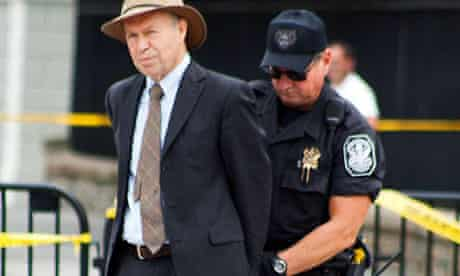 Nasa scientist James Hansen being arrested in 2011