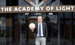 Paolo Di Canio poses with a ball after being unveiled as the new Sunderland manager  at The Academy of Light training ground in Sunderland, England.