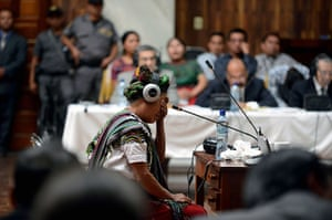 24 hours in pictures: Guatemala City, Guatemala: Ana de Leon cries while giving testimony as witn