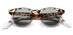 shop the look: Animal pattern plastic framed sunglasses