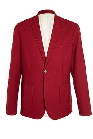 shop the look: Slim fit cotton suit jacket