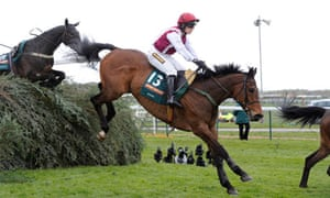 Walsh clears The Chair on Seabass during 2012's Grand National.