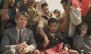 Cesar Chavez with Bobby Kennedy, 1968