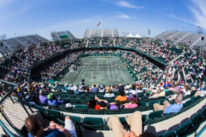 Wide angle view of Circle Tennis Center, a host to the Family Circle Cup in Charleston, United States.