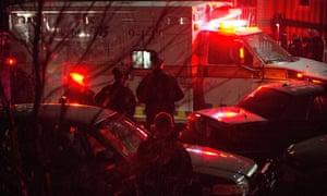 An ambulance carries Boston marathon bombing suspect Dzhokhar Tsarnaev from the scene after he was apprehended in Watertown, Massachusetts