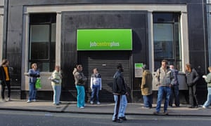 People outside a jobcentre
