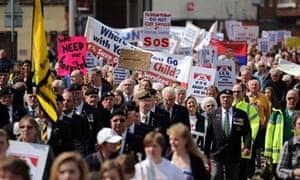 March against downgrade of Stafford hospital