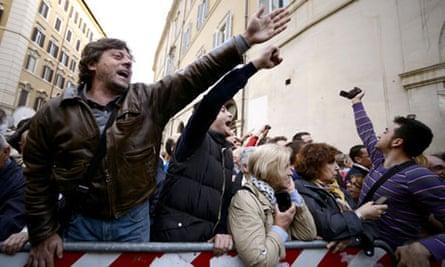 Five Star Movement protesters in Rome