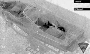 Dzhokhar Tsarnaev hiding inside a boat in Watertown