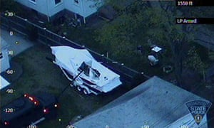 Police vehicle probes boat where Dzhokhar Tsarnaev was hiding