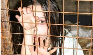 Girl in a cage: Animal Defenders International advert