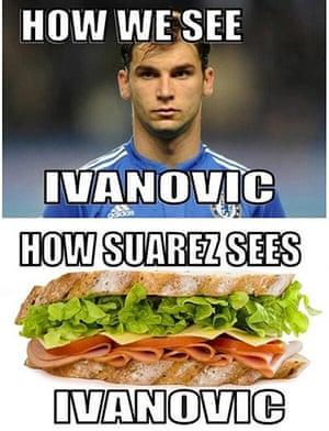 Suárez bite memes: Ivanovic sandwich
