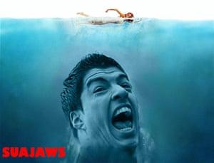 Suárez bite memes: Suajaws
