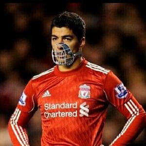 Suárez bite memes: Suarez muzzle