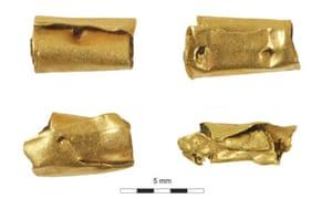 Kingsmead quarry gold beads
