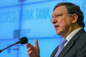European Commission President Jose Manuel Barroso speeches at the opening of the 'Think Tank' conference at the Residence Palace, in Brussels, Belgium, 22 April 2013.