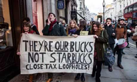 Protestors against Starbucks