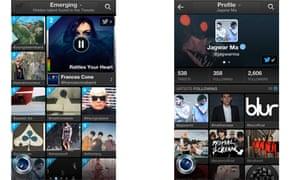 Twitter #music iPhone app