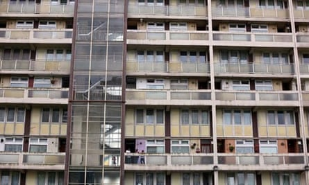 Social housing – a block of flats in Tower Hamlets, London