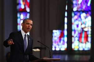 Boston bombings timeline: President Obama attends an interfaith service for the victims