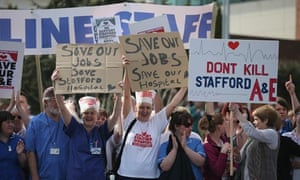 Demonstrators back Mid-Staffs Hospital