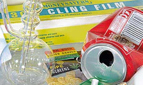 Drugs paraphernalia that Ramsey has recovered from amnesty bins
