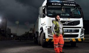 Katie Gillard and her lorry