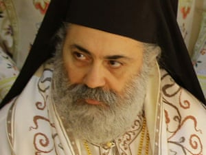 Syrian Bishop Boulos Yazigi, head of the Greek Orthodox church in Aleppo, who was kidnapped together with Bishop Yuhanna Ibrahim, head of the Syriac Orthodox Church in Aleppo.