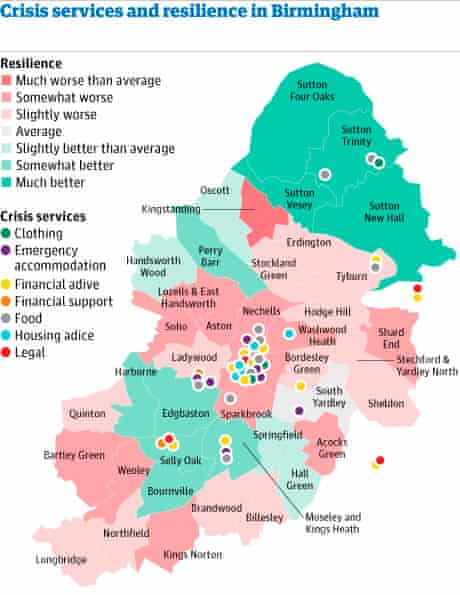 Crisis services and resilience in Birmingham