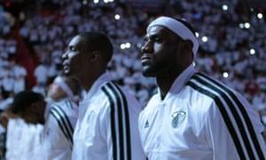 LeBron James and Chris Bosh Miami Heat vs Milwaukee Bucks