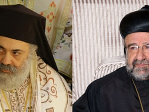 Missing Syrian bishops Boulos Yaziji (left) head of the Greek Orthodox church in Aleppo and Yohanna Ibrahim head of the Syriac Orthodox Church in Aleppo.