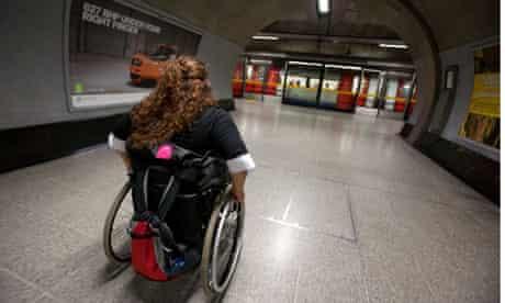 Wheelchair user on London Undergound