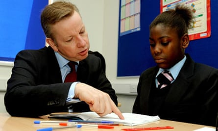 Michael Gove and pupil