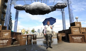 Time for another awkward photocall. Notorious TV weather presenter Michael Fish; who said there was no hurricane coming hours before one devastated the South East of England in 1987; attends a photocall to launch the world's first interactive storm at the Design Museum in London.