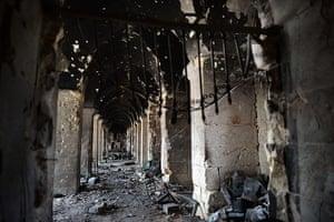 Aleppo mosque damage: Aleppo's iconic Umayyad Mosque in ruins