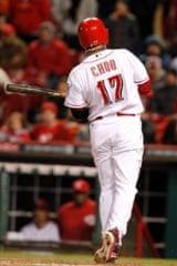 Cincinnati Reds的Choo Shin-Soo在球场上的领先优势领先联盟。