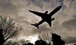 A British Airways plane prepares to land