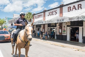 Key West City Guide: Key West Police Dept on horse