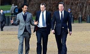 Rohan Silva with David Cameron