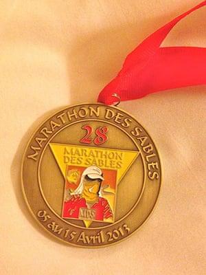 Marathon des Sables: Medal for finishing