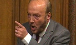 George Galloway speaking in the House of Commons