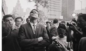 Muhammad Ali Looking Up at Sky