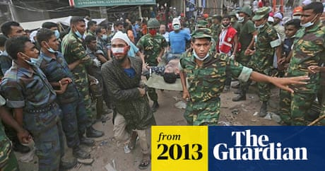 Bangladesh building collapse: dramatic rescue for survivors found in air pocket