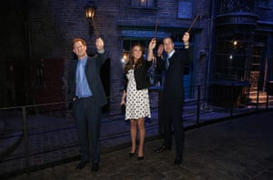 Royal Warner Bros: Prince Harry, Catherine, Duchess of Cambridge and Prince William raise thei