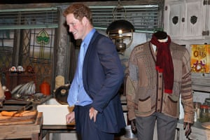 Royal Warner Bros: Prince Harry during the costume tour