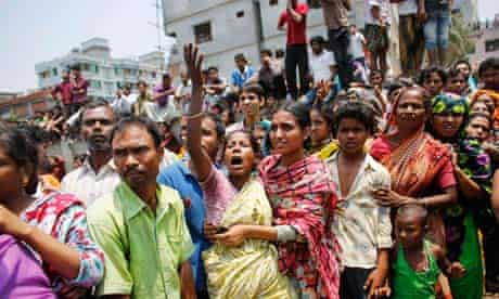 Grieving relatives in Dhaka, Bangladesh